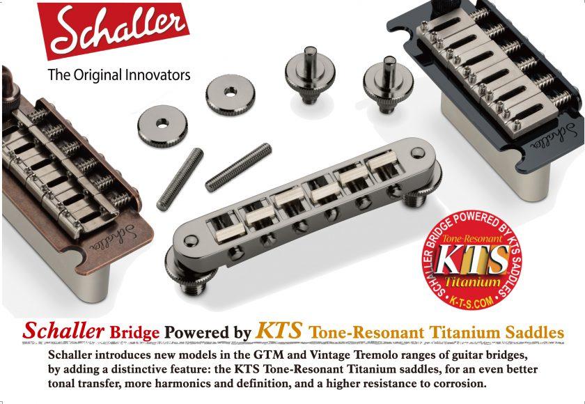 ◆[Schaller] KTSチタン・サドル搭載 ブリッジ&トレモロ 新発売!◆